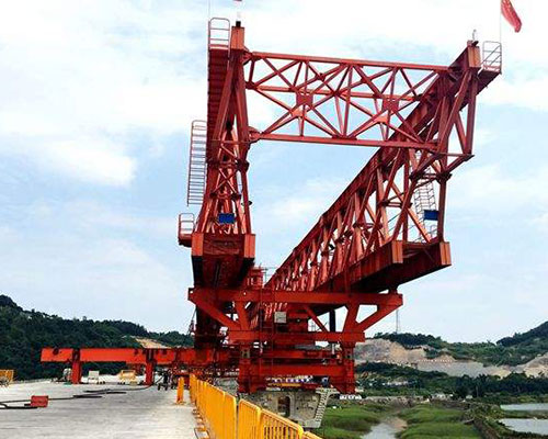 The main application of high speed railway bridge erecting machine