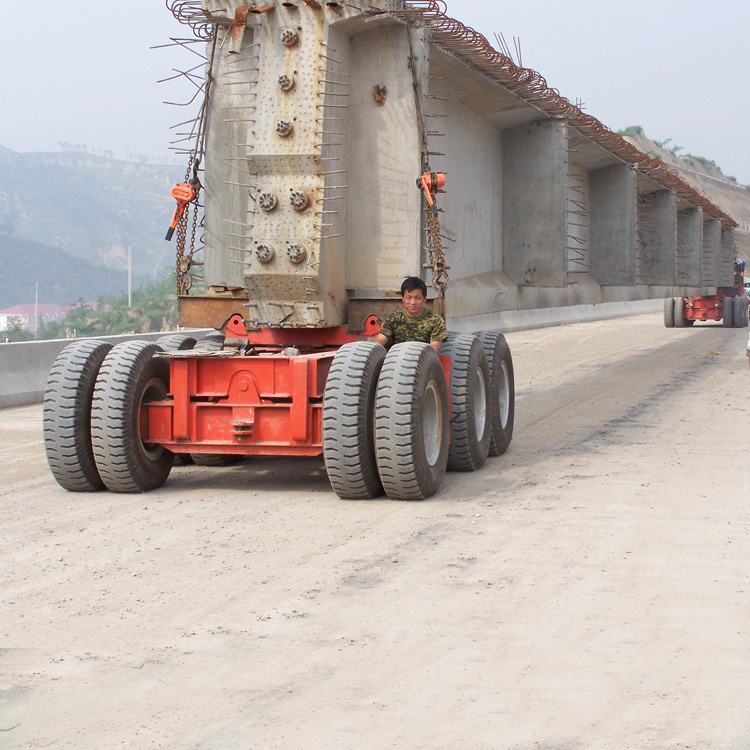 Transporting girder vehicle for launcher grider crane