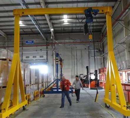 Simple gantry cranes used in what problem should note?