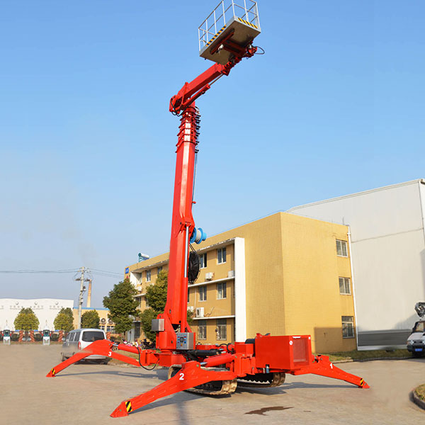 Compact 12-50m height diesel&battery power crawler spider lifting platform