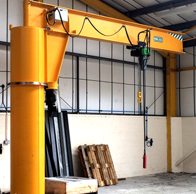 Industrial workshop use floor mounted cantilever jib crane