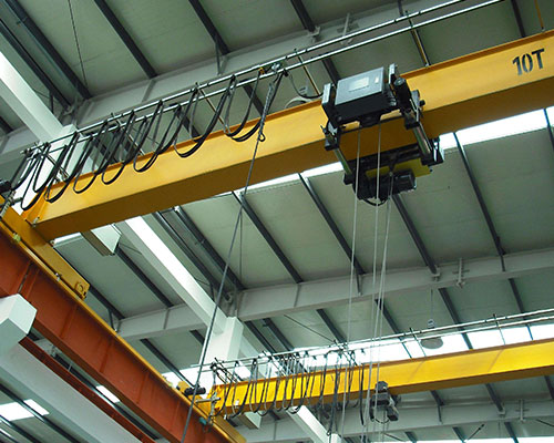 Why should a single beam bridge crane be installed with a height limiter?